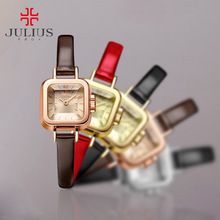 Top Julius Lady Women's Children Wrist watch Elegant Mini Cute Fashion Hours Dress Bracelet Leather Children Girl Birthday Gift