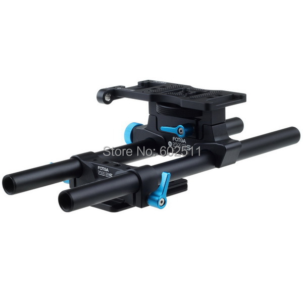 FOTGA 15mm Rail Rod Support System Baseplate Mount for DP500IIS BMCC 5DIII 5DII 1000D DSLR Follow Focus Rig