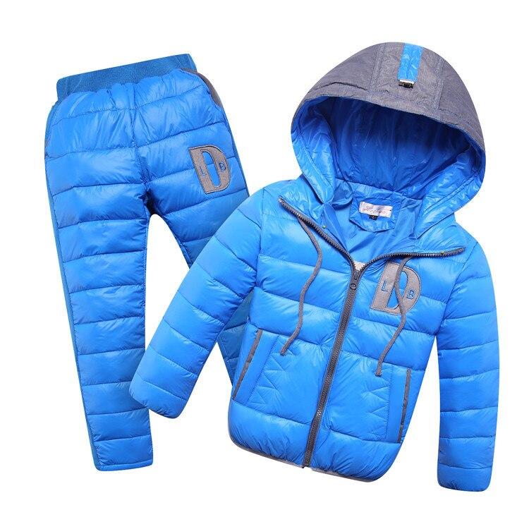 b1d1159a9 Winter Warm Children s Suits New Baby Boys Girls White Duck Down ...