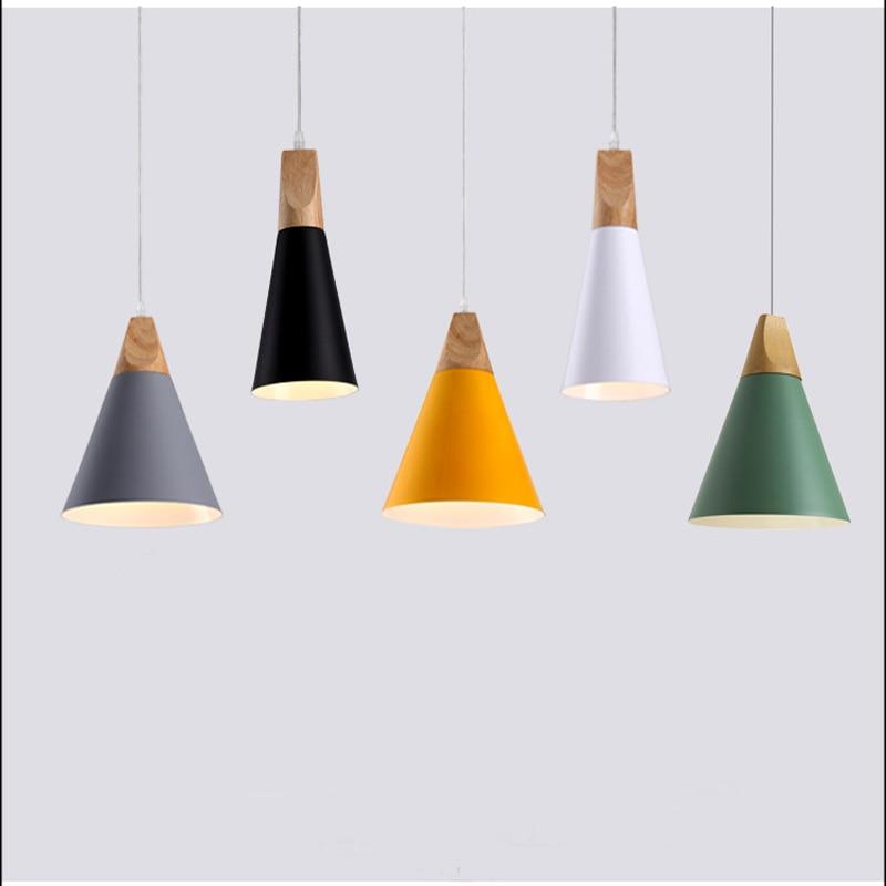 Nordic loft single head hanging lights two style LED minimalist pendant lamps for kitchen bedroom living room restaurant cafe|Pendant Lights| |  - title=