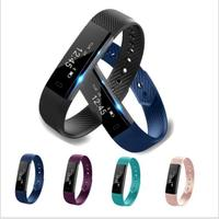 ID115 Smart Bracelet Sleep Monitor Track Fitness Tracker Step Counter Band Alarm Clock Vibration Wristband For Iphone Android