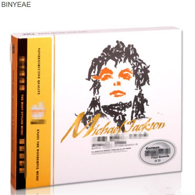 BINYEAE Novo CD do Selo: Michael Jackson Clssico Europeu e Americano Pop  Msicas Carro Vinil Msica disco 3CD [frete grtis]-in CD/DVD Player Bags from