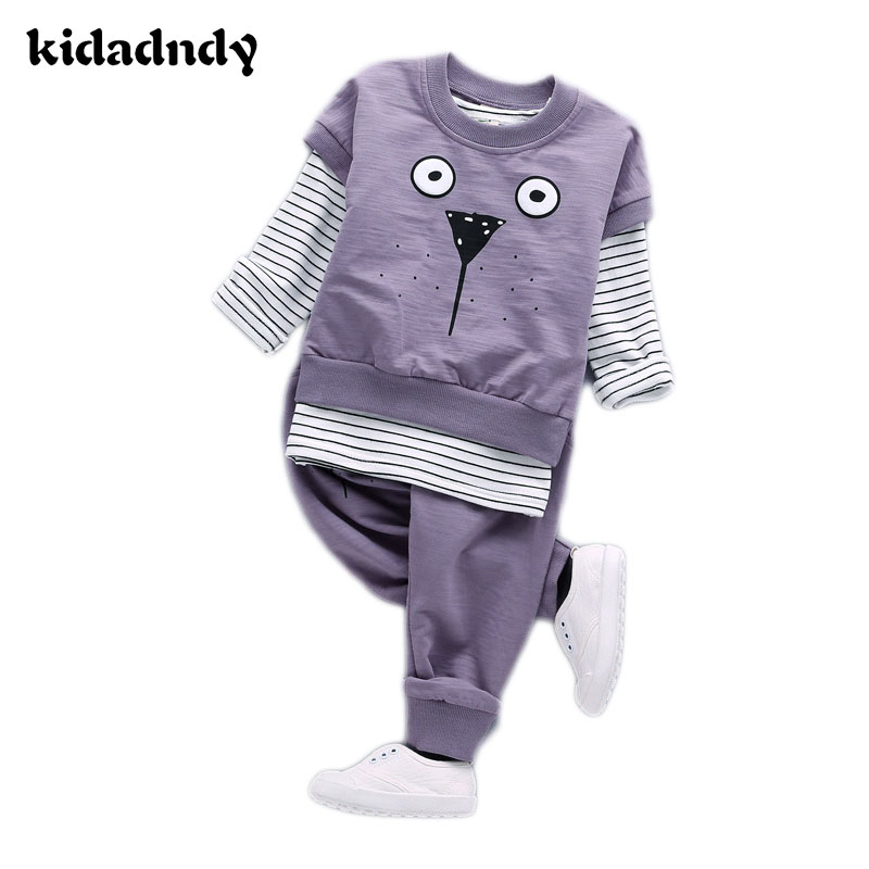 Three - piece Fashion Version of the Boys and Girls Cotton Children 's Bamboo Wool Brand Cotton Children' s Wear YD110 the new children s cubs hat qiu dong with cartoon animals knitting wool cap and pile