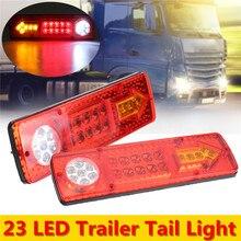 Светодио дный 2 В x 12 в 19 светодиодный прицеп грузовик задний тормоз Стоп задний Реверс Авто поворот свет Индикатор обратная лампа Поворотная сигнальная лампа