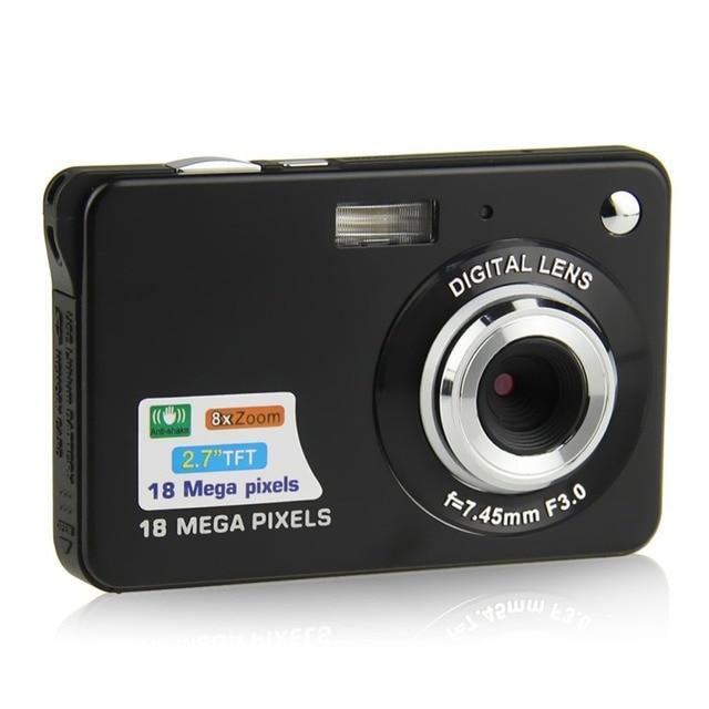Portable 2.7 Inch Mini Digital Camera TFT HD Screen 720P 18.0MP CMOS 8x Zoom Anti-shake Camcorder Digital Video Camera with Mic