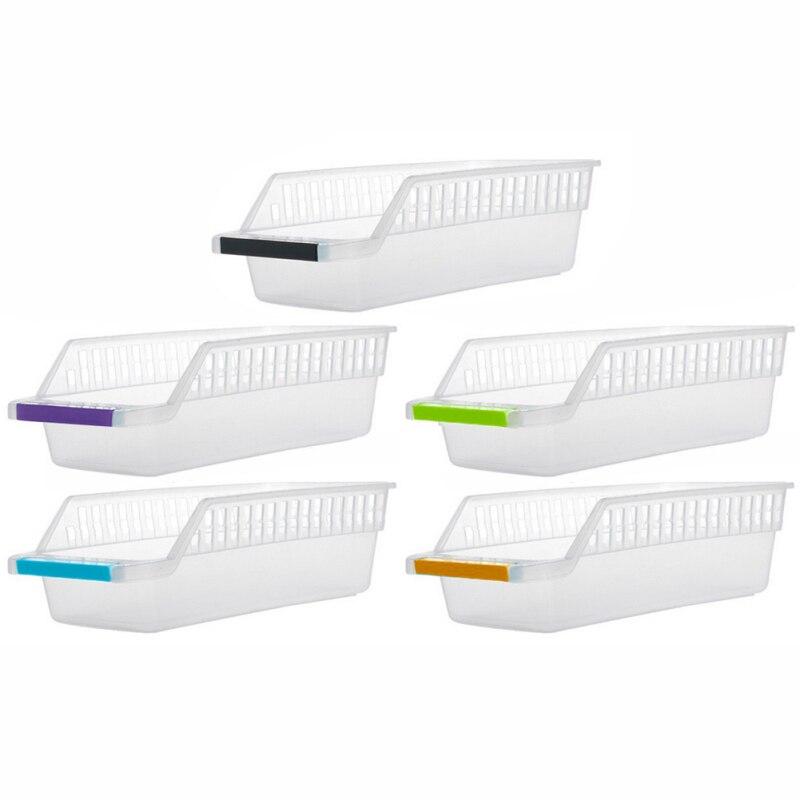 New Slide Kitchen Fridge Freezer Space Saver Organizer Refrigerator Storage Rack Shelf Holder Drawer JK0868