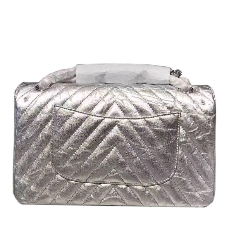 Высокое качество ягненка Кожаная сумка Для женщин Элитный бренд Дизайн двойным клапаном сумка Классический woc плотная Креста тела цепи сум