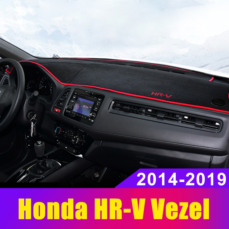 For Honda HRV HR-V Vezel 2014 2015 2016 2017 2018 2019 Car Dashboard Cover Dash Mat Sun Shade Pad Carpets ANti-UV Accessories