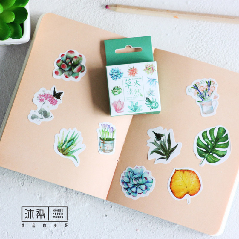 Cute Kawaii Flower Paper Stationery Sticker Cartoon Rabbit Scrapbooking Stickers Papeleria Gift Free Shipping 1121