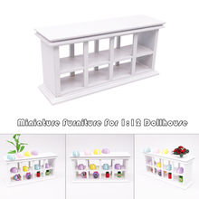 1:12 Dollhouse Furniture Miniature Display Shelf Living Room Kid Pretend Toy Bookshelf Cabinet Shelf Study Room Decoration(China)