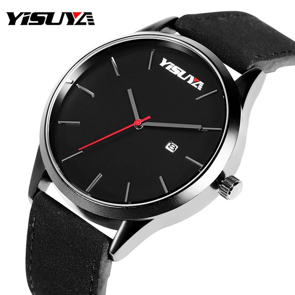 YISUYA Quartz Watch Men 2017 Fashion Mens Watches Top Brand Luxury Famous Wristwatches Male Clock Hodinky Relogio Masculino Gift стоимость