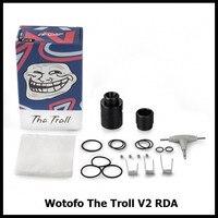 الأصلي wotofo لل ترول rda v2 22 ملليمتر قطر ترقية الإصدار من القزم هيئة الطرق والمواصلات خزان البخاخة vape بخار ضخم مقابل ammit