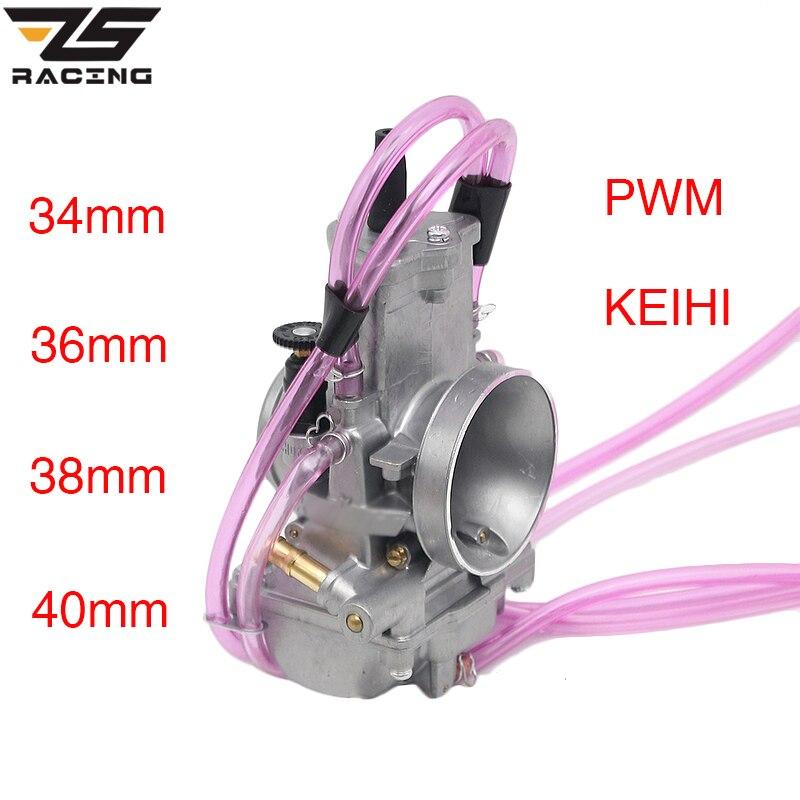 Carburateur ZS Racing moto Keih 34mm 36mm 38mm 40mm pour carburateur 125cc-250cc 2 temps 4 temps PWM34-40 de course