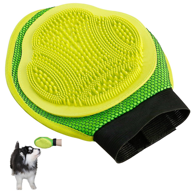 Newest Dog Glove For Combing Hair Remove Brush Grooming Cleaning Massage Bath Large Comb Pet Cat Accessories