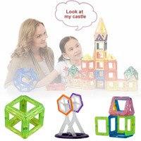 New 58 Pcs Kids Magnetic Blocks Construction Enlighten Assembly Building Blocks Toys Kids Educational DIY Toy Block Set