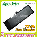"Apexway 73WH 11.1V laptop battery A1321 for Apple MacBook Pro 15"" MB985J/A MB985 MB986J/A MC118 MC118*/A  MC118X/A+screwdrivers"