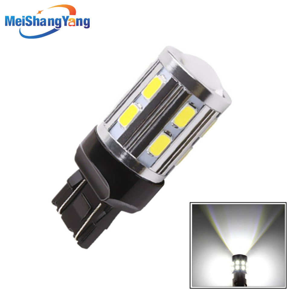 7443 7440 Led car bulbs 12 SMD 5730 Xenon White W21/5W 5W High power XPE LED lamp Bulbs car light source parking 12V-24V