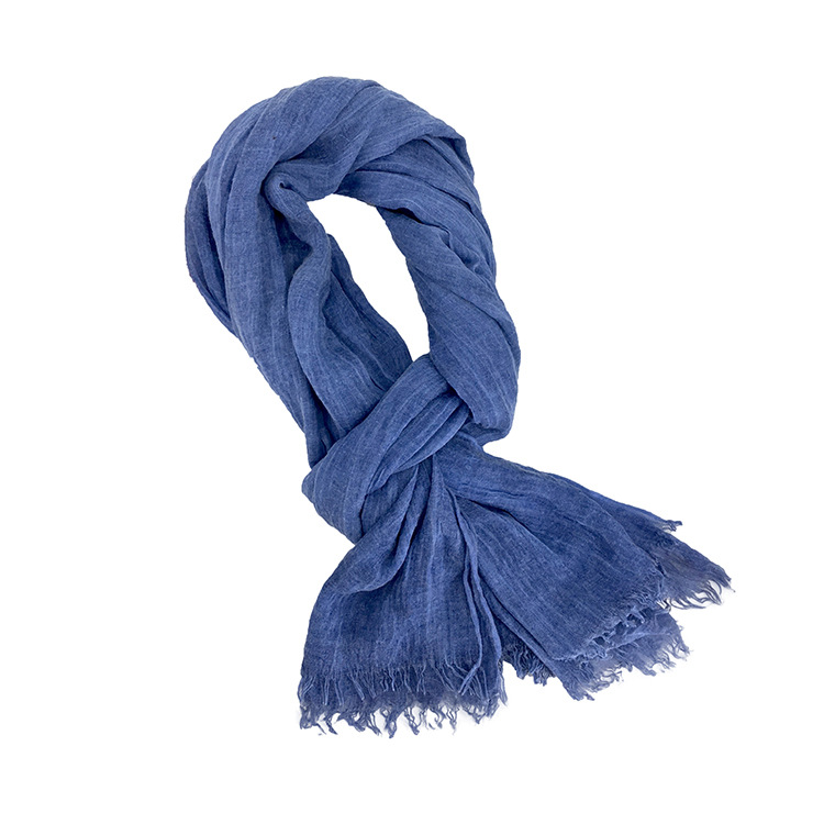 190*85cm Wholesale Brand Winter Scarf Men Warm Soft Tassel Bufandas Cachecol Gray Woven Wrinkled Cotton Men Scarves scarf