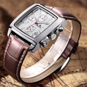 Image 3 - MEGIR mode montre décontractée pour homme de luxe militaire sport montres bracelet en cuir étanche Quartz montres mâle Relogio Masculino