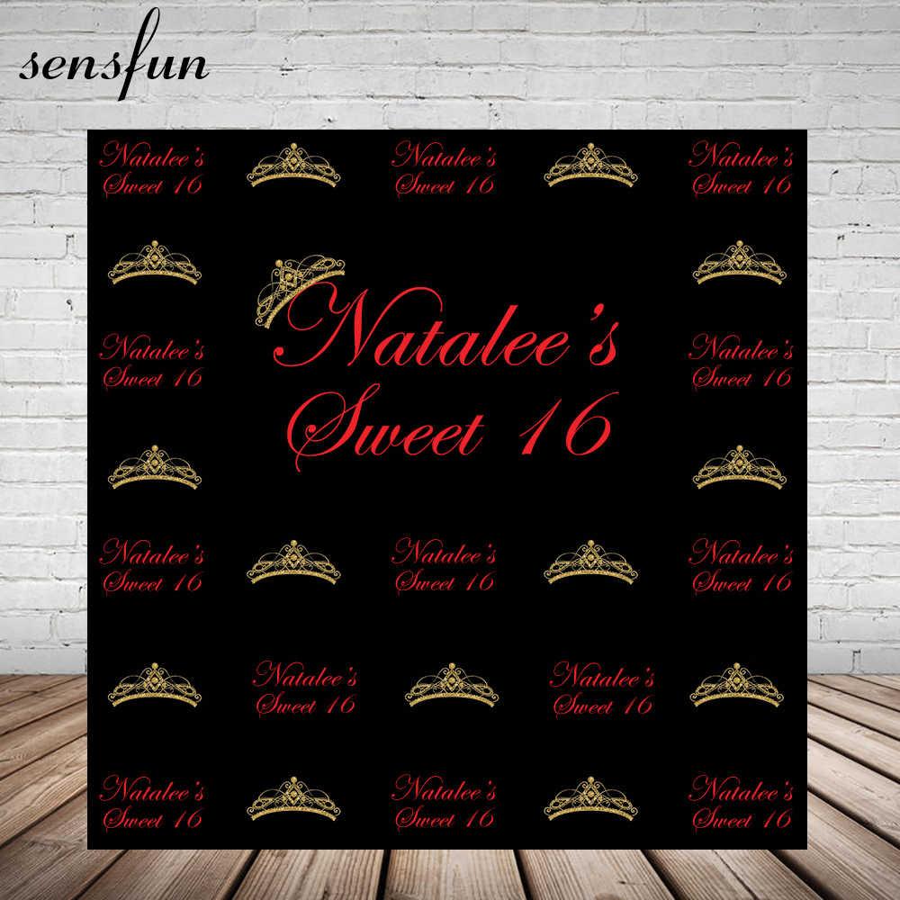 Sensfun S Sweet 16 Party Decorations Backdrop For Photo Studio