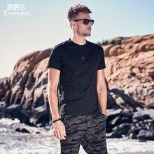 Enjeolon New T Shirt Men Summer Fashion O-neck T shirt Slim Mens T-shirt Casual 100% Cotton Print Tops Tees Shirt 3XL T8142 e40s6 200 3 t 24 100% new
