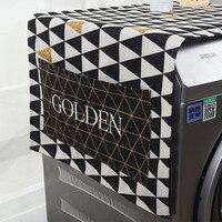 Multicolor Dual-purpose Lino Copertura Antipolvere Prova di Cucina Lavatrice Frigorifero Storage Bags Pouch