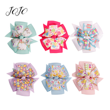 JOJO BOWS 2pcs DIY Craft Supplies For Bows Accessories Easter Day Girl Kid Hair Clip Material Headwear Hairgrips Decorations