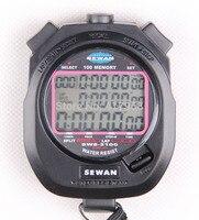 SEWEAN Kronometre SW8-3100 Dijital Kronograf 1/100 saniye Spor kronometre Sayaç zamanlayıcı 3 satır 100 anılar Lap bölünmüş