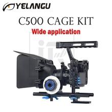 YELANGU C500 Cage Kit For GH4 A7 Wide application DSLR Camera Rig Movie Film Support Stabilizer Follow Focus Matte Box Hand Grip fotga dp500iii pro matte box a b stop follow focus baseplate handle dslr rig kit