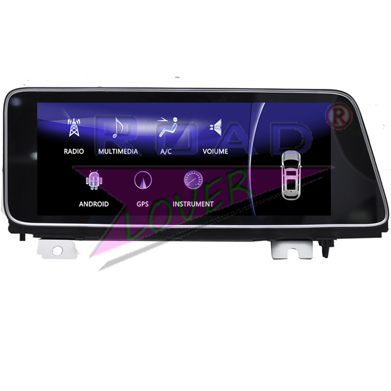Roadlover Android 7.1 Car GPS Navigation Player For Lexus RX200 RX350 RX450 2016- Stereo Automagnitol Radio 2 Din 12.3in NO DVD