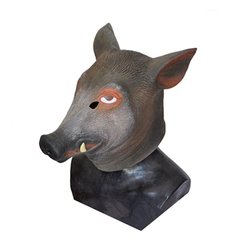 Hot search New Year carnival Pig Mask clothing Rubber Latex Sex Halloween Party Costume