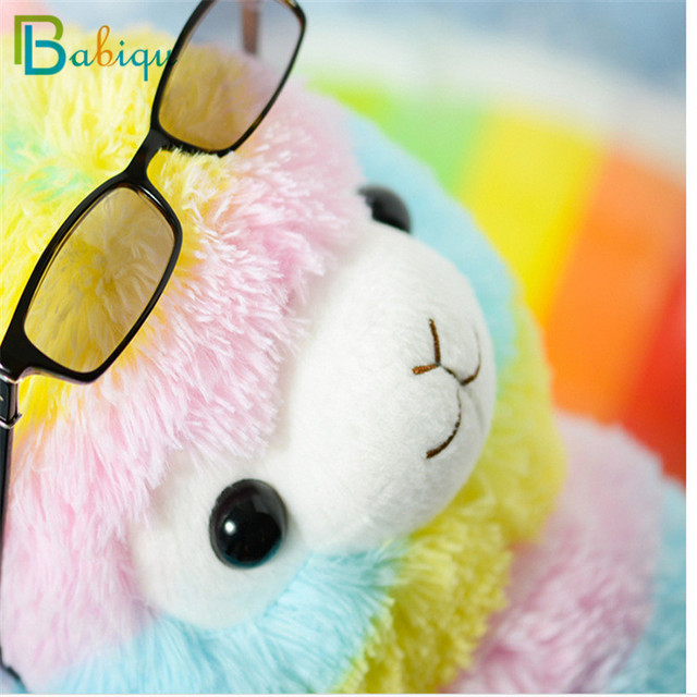 1pc 20cm Rainbow Alpaca Vicugna Pacos Plush Toys for Children Japanese Soft Plush Alpacasso Baby Stuffed Animals Alpaca Gifts 4