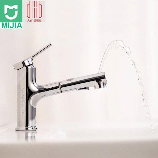 Xiaomi DABAI 浴室の洗面台のシンク蛇口 w/プルアウトリンサ噴霧器ブラッシングうがい 2 モードミキサータップコールド & ホット浴槽の蛇口