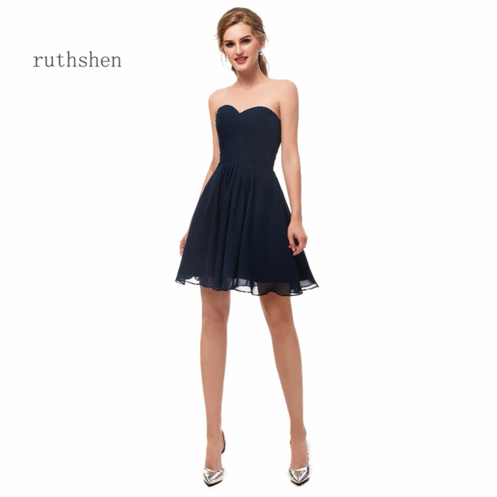 ruthshen 2018 Mini   Cocktail     Dresses   Women's Fashion Sweetheart Neck A Line Short Black Party Prom   Dresses   New Arrival Sleeveless