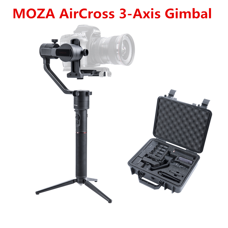 MOZA AirCross 3 Assi Handheld Gimbal Stabilizzatore per Mirrorless 1800g Auto-Tuning Lunga Esposizione Time-lapse per SONY CANON A7
