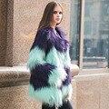 Мода Зимнее Пальто Женщин Полушубок Корейской Леди Искусственного Меха Пальто Манто Fourrure Femme Плюс размер 3XL