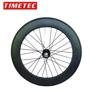 Image 4 - fixed gear carbon wheels flipflop carbon track wheelset  82mm depth 23mm width tubular wheels clincher single speed wheels