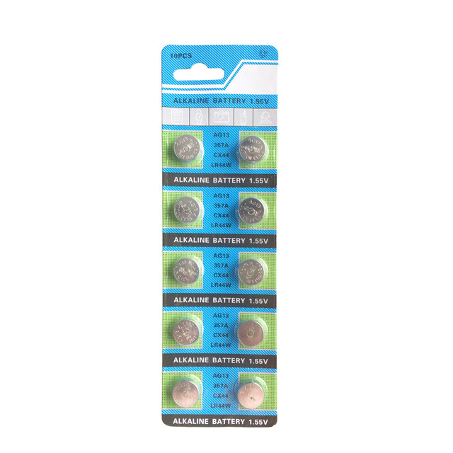 10pcs 1.5V AG13 Battery LR44 L1154 RW82 RW42 SR1154 SP76 A76 357A pila lr44 SR44 AG 13 Lithium Button Cell Coin Battery