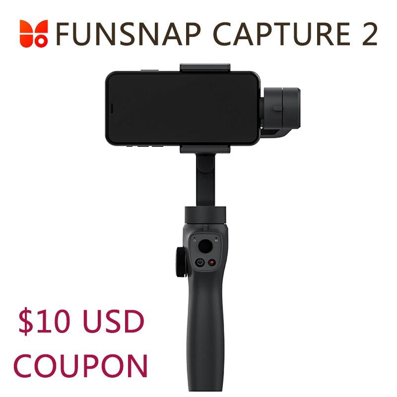 Funsnap Capture 2 Handheld Gimbal Stabilizer For Smartphone GoPro 7 XiaoYi 4k Action Camera Not DJI