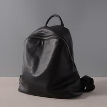 Fashion 100% Real Soft Genuine Leather Women Backpack Female Vintage Ladies Laptop School Bag Girls Notebook Mochilas Mujer