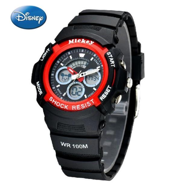 ea00b3861d80 Disney Sport relojes para hombres impermeable Relojes digitales Mickey Mouse  silicio Militar reloj del deporte los