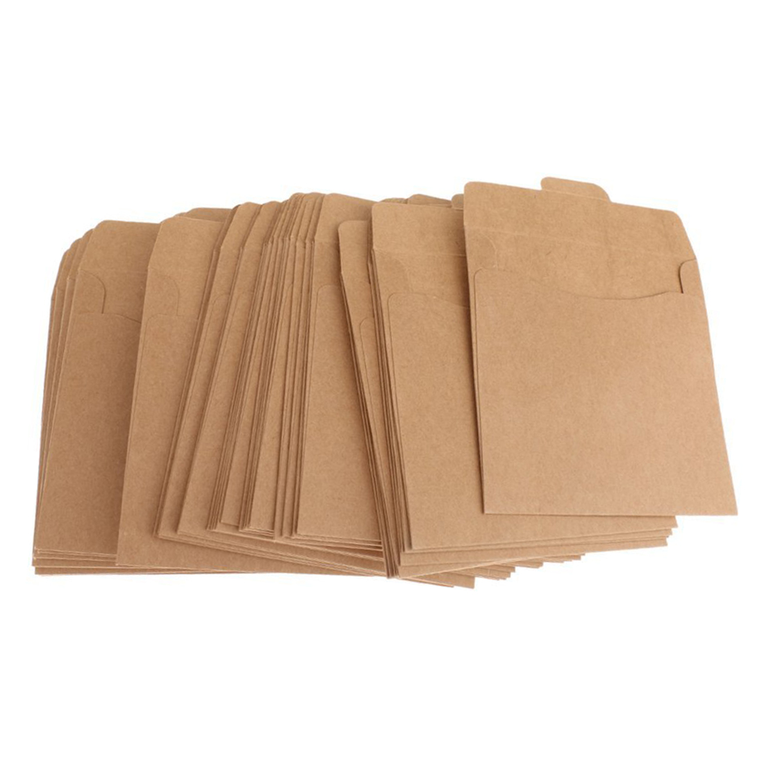 Pack of 50 CD DVD Sleeves Disc Paper Bags