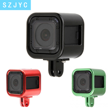 JYC CNC Aluminum Alloy Protective Case for Gopro Hero 6 5 4 Session Frame Shell Cover Protector Go Pro Cam Accessory