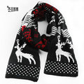 Winter Snow Deer Imitation Cashmere Scarf Wool For Men