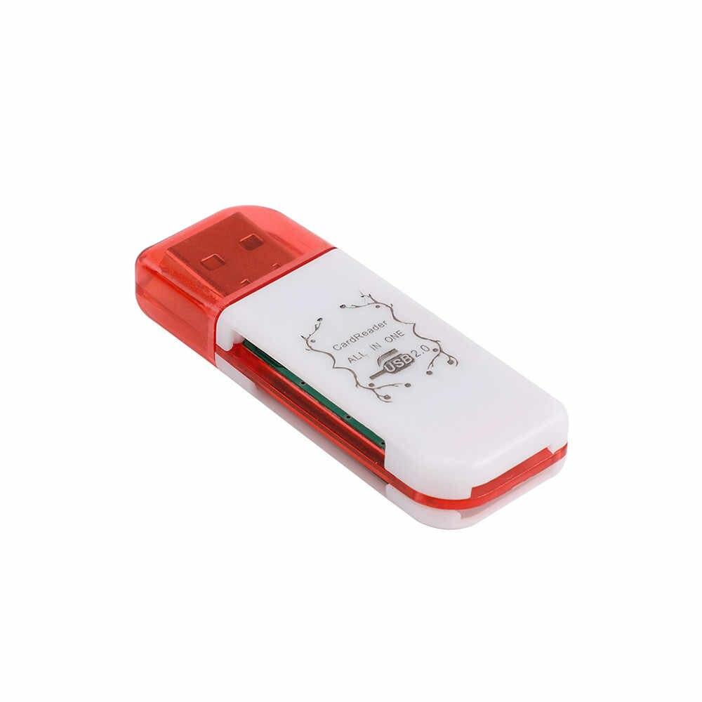ذاكرة يو إس بي بطاقة 4 في 1 محول مزود بقارئ مع 8/16/32/64/128 جيجابايت مايكرو TF فلاش بطاقة الذكية بطاقة الذاكرة محول لأجهزة الكمبيوتر المحمول ملحقاتها
