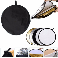 JUST NOW 32 Inch 80CM 5 In 1 Collapsible Multi Disc Light Reflector With Bag For