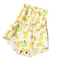 New Arrival Summer Baby Girls One-Piece Cloth Fashion Kids Girl's Banana Print Short Dress for 6-18M Kids