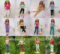 40 Items Handmade Doll Dresses Clothing Jacket + Pants Suit For Barbie Kurhn Doll Children Kids Gift