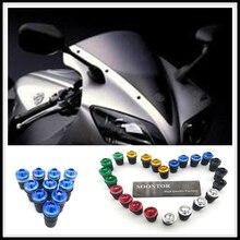 5mm moto pare-brise pare-brise attache pic boulons kit vis écrous pour Buell foudre XB12R Ducati 996 996B SPS