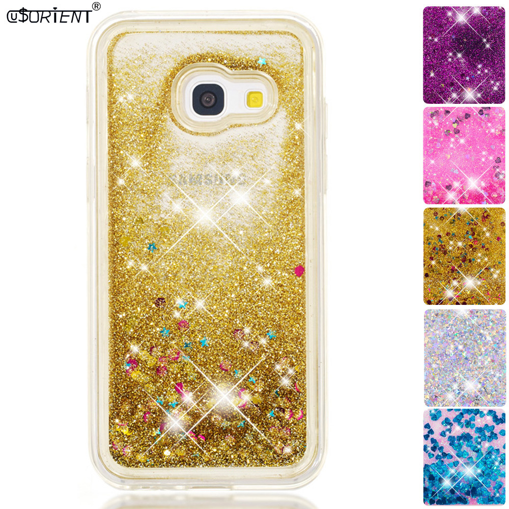 Half-wrapped Case Good For Samsung Galaxy A3 2017 Bling Glitter Dynamic Liquid Quicksand Fitted Case Sm-a320fl Sm-a320f/ds Sm-a320x Phone Cover Funda To Assure Years Of Trouble-Free Service Cellphones & Telecommunications